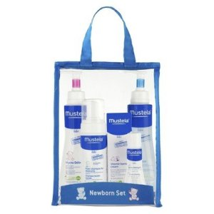 Mestela's Newborn Gift Set gives you a great variety of Mustela brand baby products in one neat package!