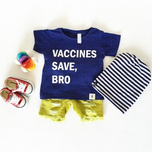 Cute baby outfit featuring our Wire and Honey tee.