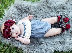 Pop of Color, Headband: Laykens_Sweetco, Romper: SweetBeanBoutique, Bracelet: BabesInBracelets, Shoes: BraveLittleSole